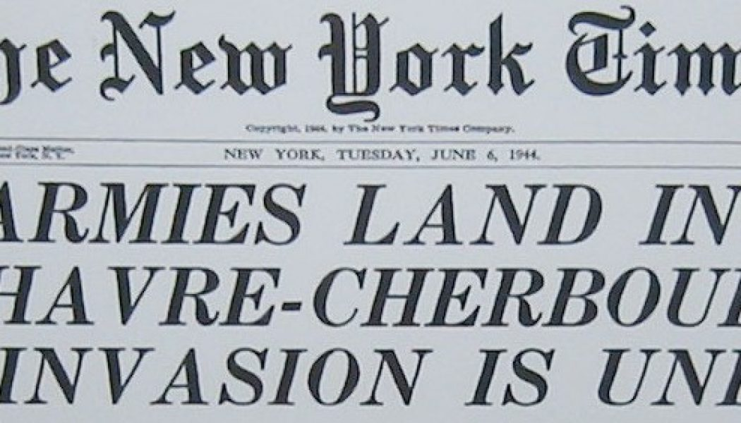 D-Day Anniversary: CBS Radio Network Reports on the Allied Invasion of France – June 6, 1944