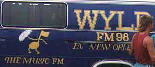 WYLD FM 98 New Orleans - station vehicle